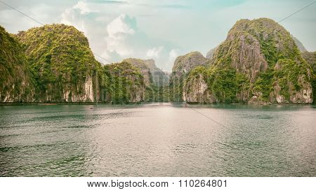seascape of Halong Bay