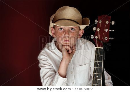 Young Man Country Music Guitar