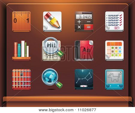 School and educational apps icons
