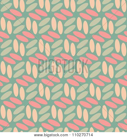 Vector Seamless  Rounded Ellipses In Pink And Teal Pattern