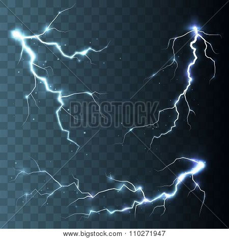 Thunder-storm and lightnings