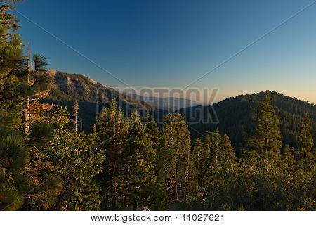 Sierra Nevada Mountain Range landscape at sunset