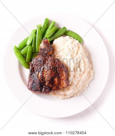 Pork Neck Chop With Risotto