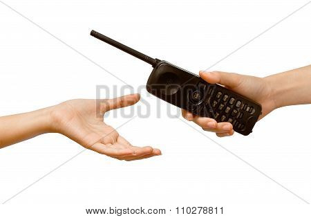 Woman Hand Giving A Phone