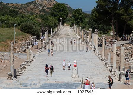 Arcadian Street In Ephesus Ancient City