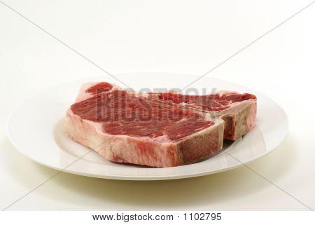 Raw T-Bone Steak