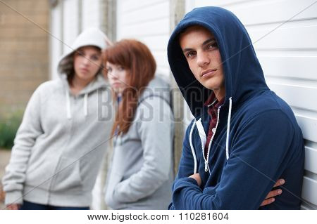 Gang Of Teenagers Hanging Out