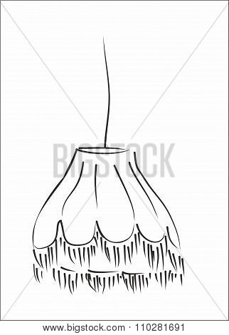 lampshade silhouette vector