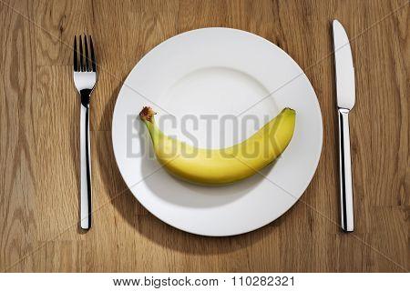 Banana On A Plate
