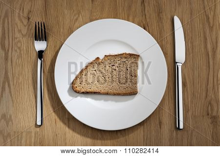 Bread On A White Plate
