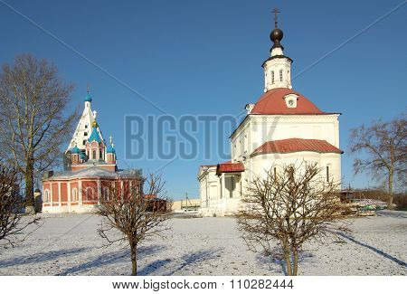 Temple Of The Resurrection In The Town Of Kolomna