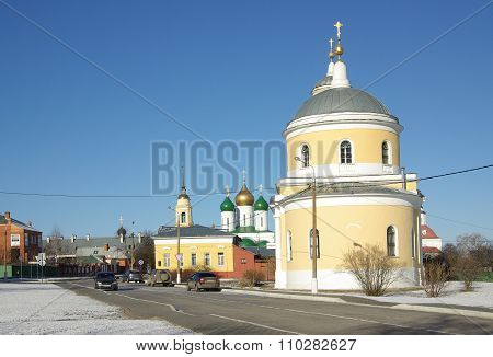 Kolomna, Russa - April, 2014: The Church Of The Exaltation Of The Cross