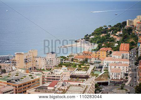 Monaco Montecarlo Principality Aerial View Cityscape