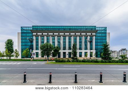 Bucharest, Romania - October 25, 2015: Romanian National Library (biblioteca Nationala A Romaniei) I