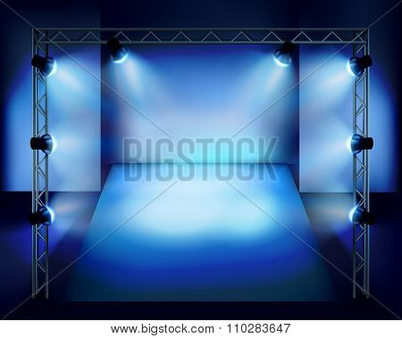 Show in the stage. Vector illustration.