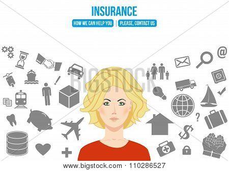 Complex Insurance Design Concept