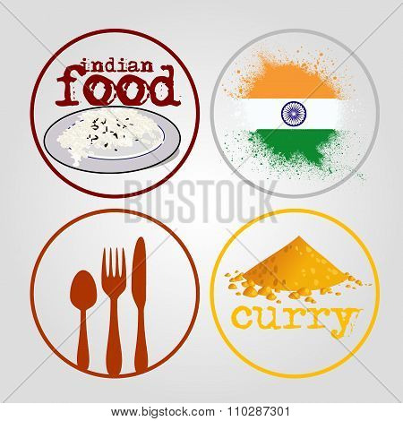 Indian food icons