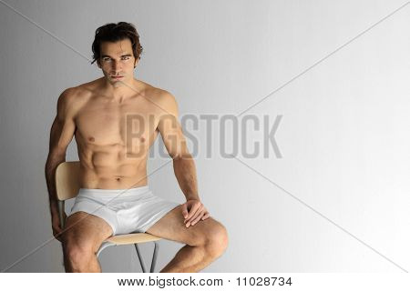 Sexy Guy On Stool