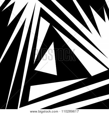 Abstract Artwork With Edgy, Pointed Shapes. Vector.