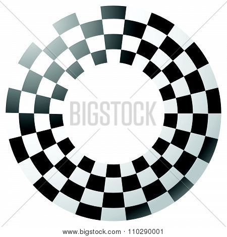Checkered, Chequered Border, Frame Isolated. Vector Art.