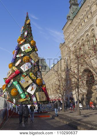 Moscow Red Square Christmas Tree