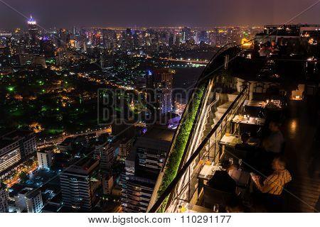 Bangkok, Thailand -circa December 2013 - The Vertigo Bar In Bangkok