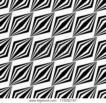 Seamless Pattern With Striped Parallelograms. Vector Art.