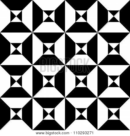 Checkered, Chequered Background With Divided Squares. Vector Art.