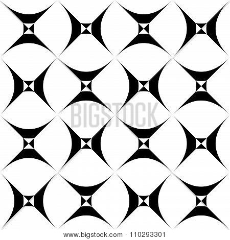 Seamless Pattern With Spiky, Pointed Shapes. Vector.