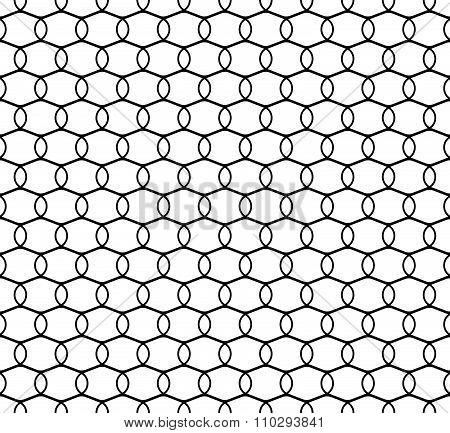 Pattern With Interlocking Circle, Oval Shapes. Repeatable.
