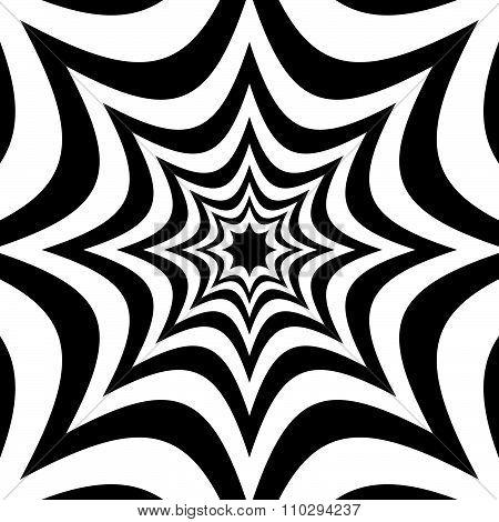 Spiky Shapes Background. Alternating Spreading Shapes. Vector.