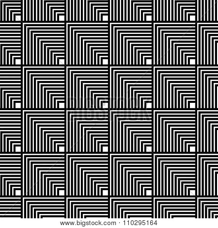 Seamlessly Repeatable Geometric, Monochrome Background / Pattern With Squares.