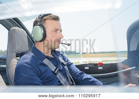 man in the the cockpit