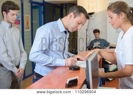 filling up forms