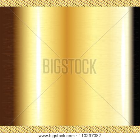 Scratched Brass Background
