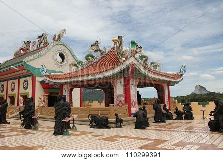 Chinese Temple Viharnra Sien in Pattaya