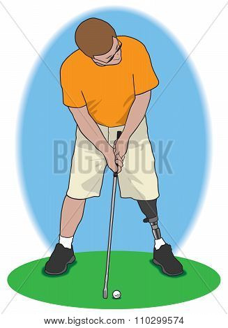Amputee Golfer