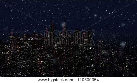 Modern City Metropolis At Night