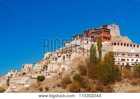 Thiksey Gompa, Tibetan Buddhist monastery of the Yellow Hat, Leh, Ladakh, Northern India.