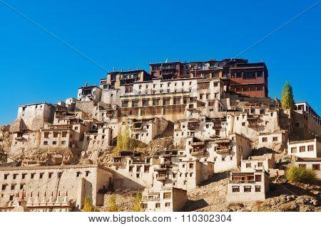 Thiksey Gompa, Tibetan Buddhist monastery of the Yellow Hat, Leh, Ladakh, India.