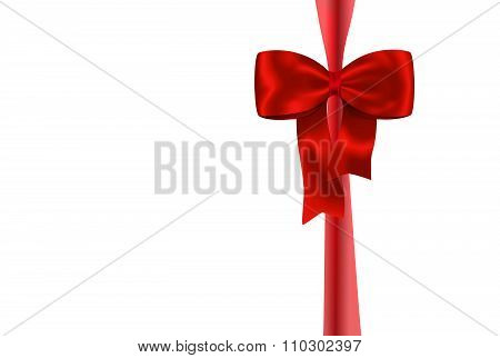 Red Gift Ribbon With Luxurious Bow
