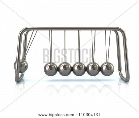 Illustration Of Silver Newton's Cradle