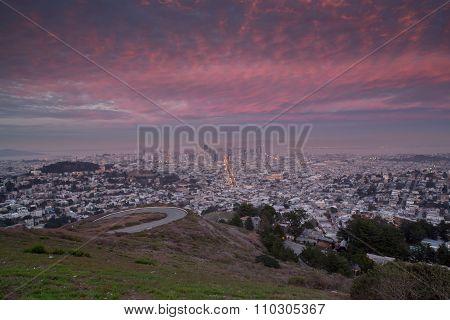 Twin Peaks, San Francisco, Sunset