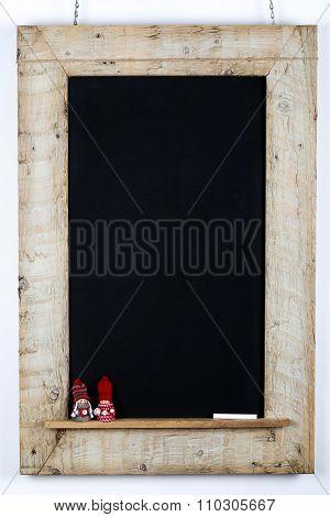 Chalkboard Blackboard Wood Frame Small Children Nordic Puppets Decoration