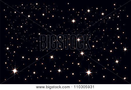 Starry sky. Stars in the night sky