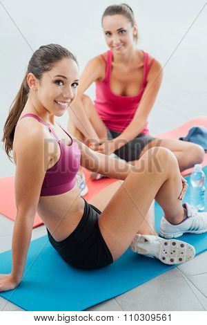Girlfriends At The Gym