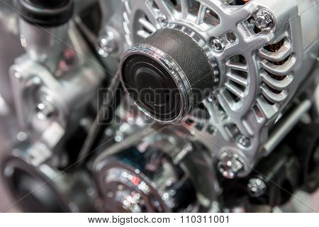 Car Interior : Part Of Modern Car Engine