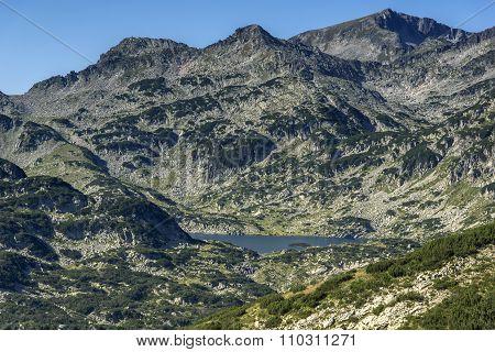 Panoramic view around Popovo lake, Pirin Mountain,