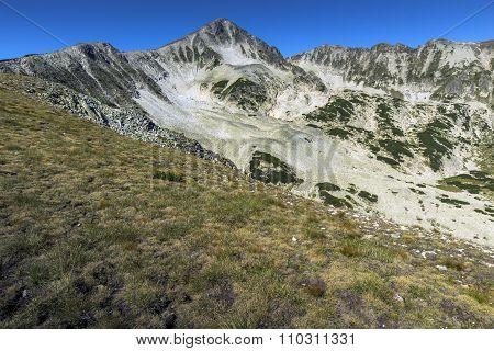 Amazing panorama of Polezhan peak, Pirin Mountain