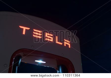 Tesla Battery Recharge Station Shamrock Texas Usa